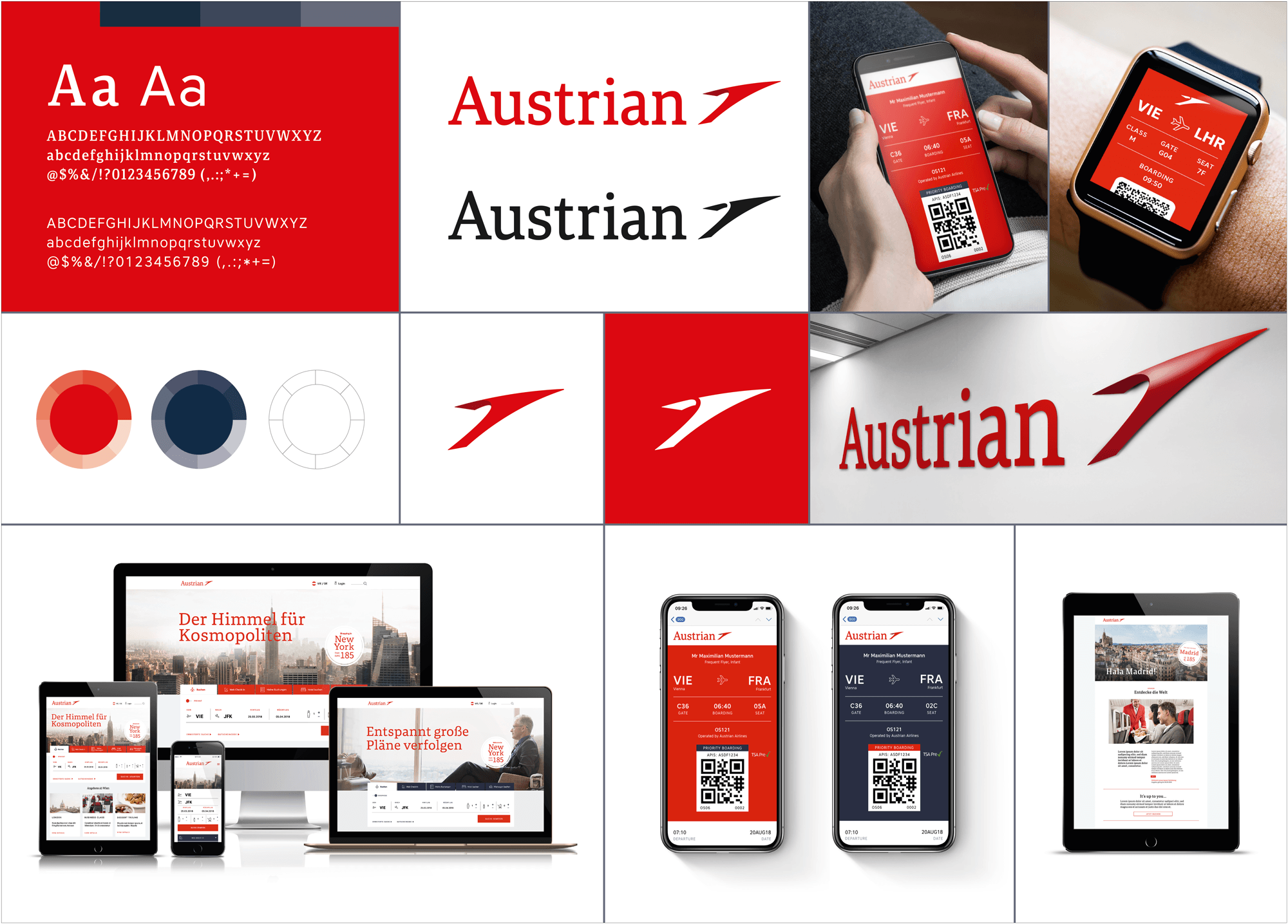 Red Dot Design Award Austrian Airlines Rebranding