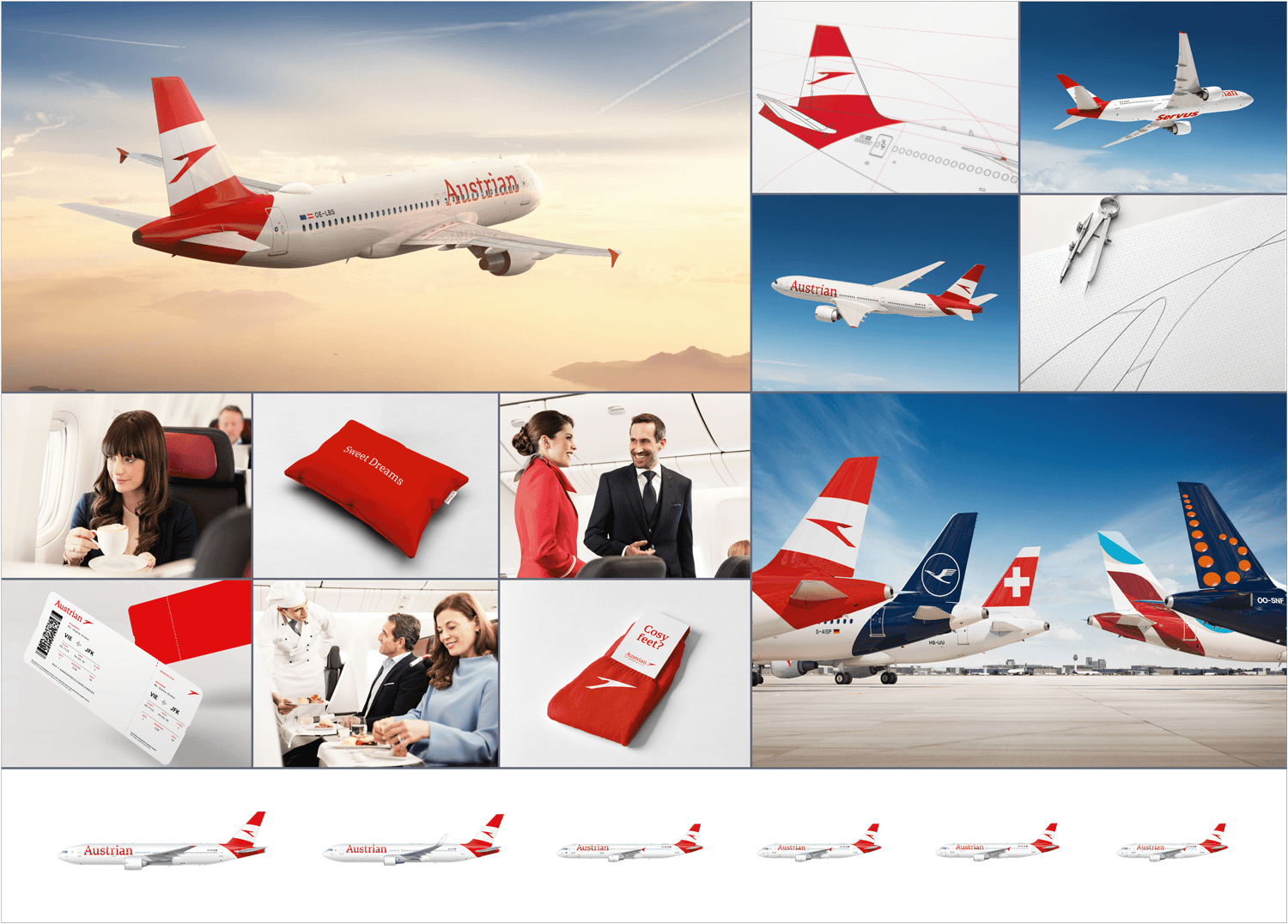 Red Dot Austrian Airlines Rebranding