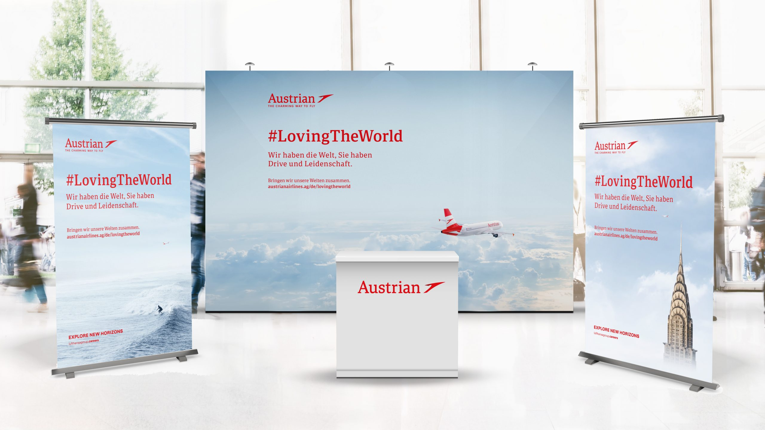 Austrian Airlines Employer Branding Messestand Design