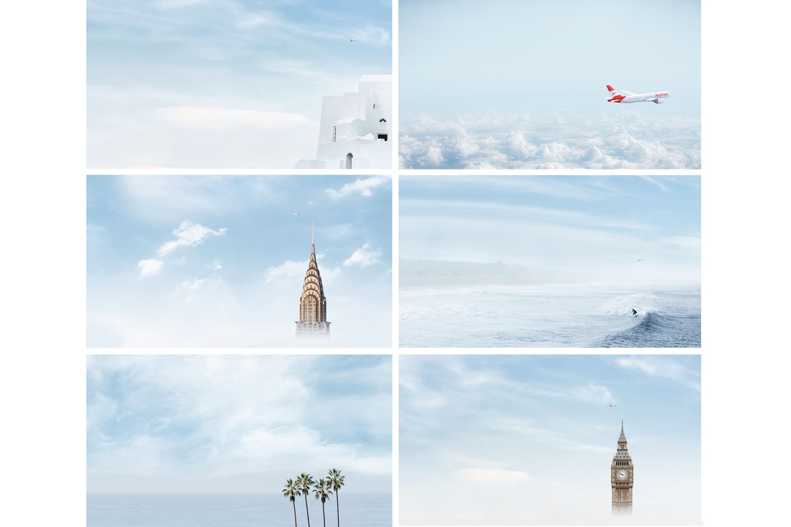 Austrian Airlines Employer Branding Visuals fuer individuelle Stelleninserate