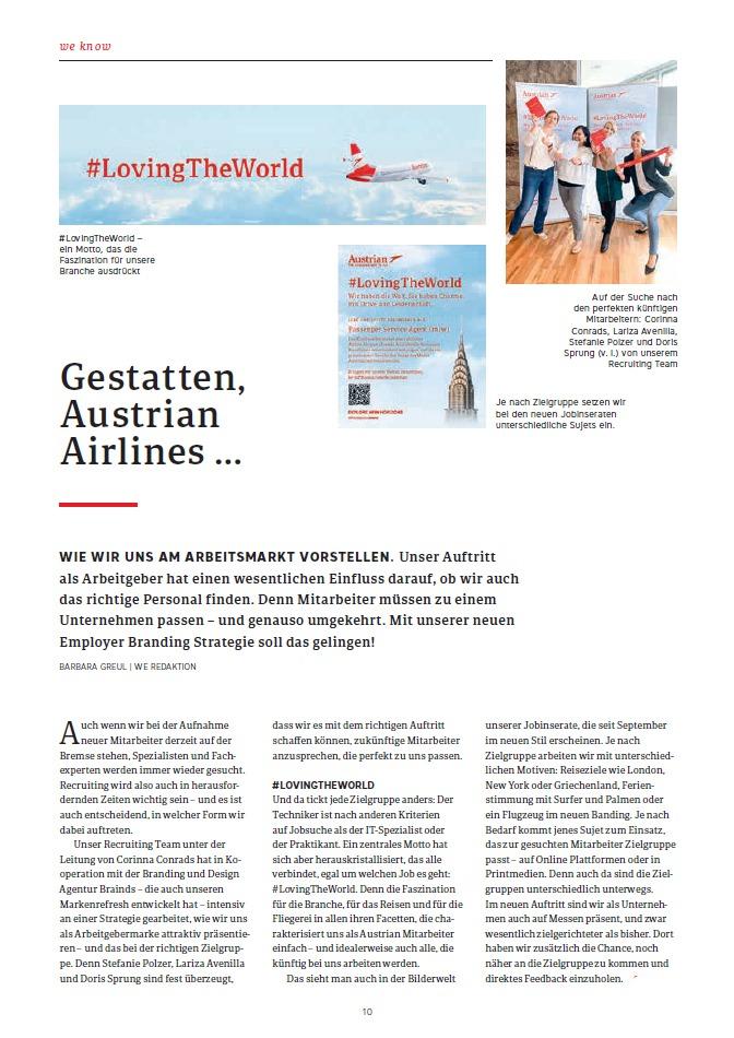 Austrian Airlines Mitarbeitermagazin Employer Branding