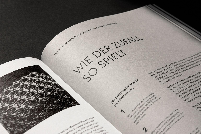 Voest Design Sonderpublikation Doppelseite