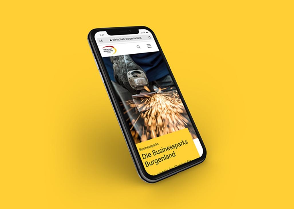 Wirtschaft Burgenland Webdesign Smartphone