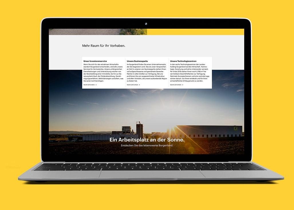 Wirtschaft Burgenland Webdesign Laptop