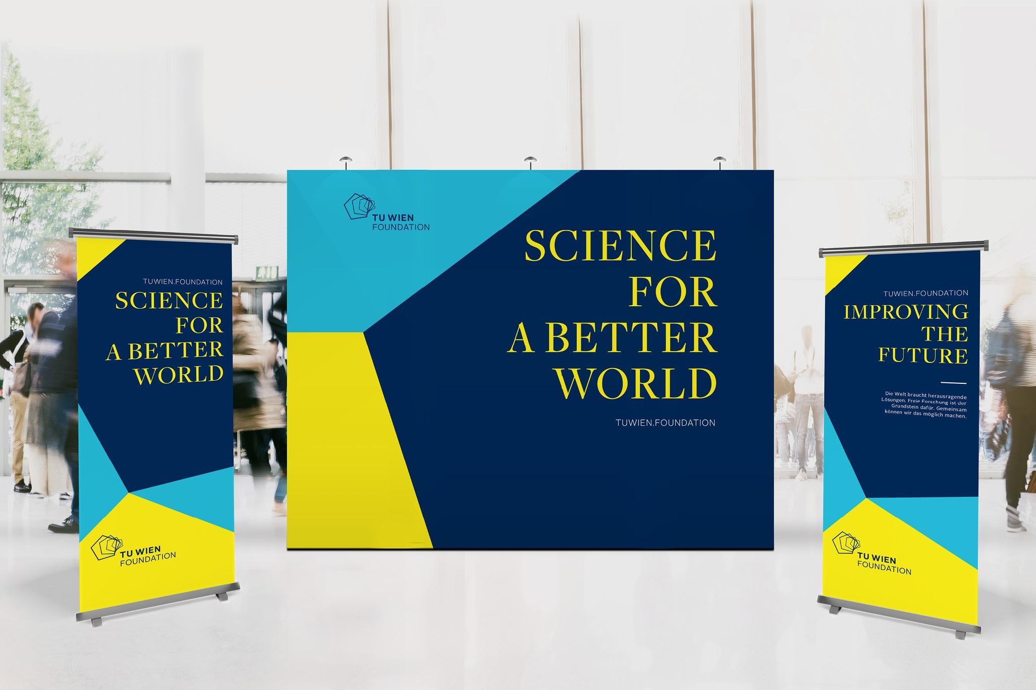 TUWienFoundation Brand Design Messestand