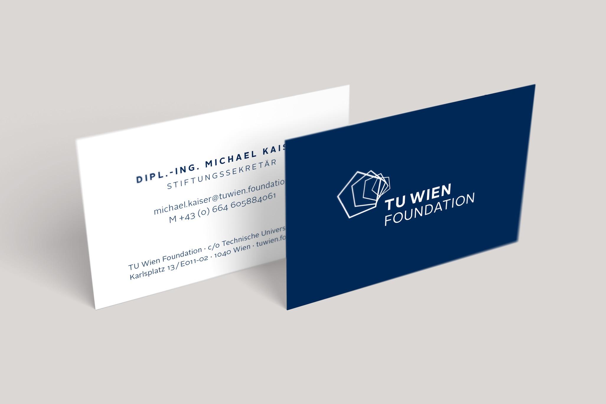 TUWienFoundation Brand Design Visitenkarten