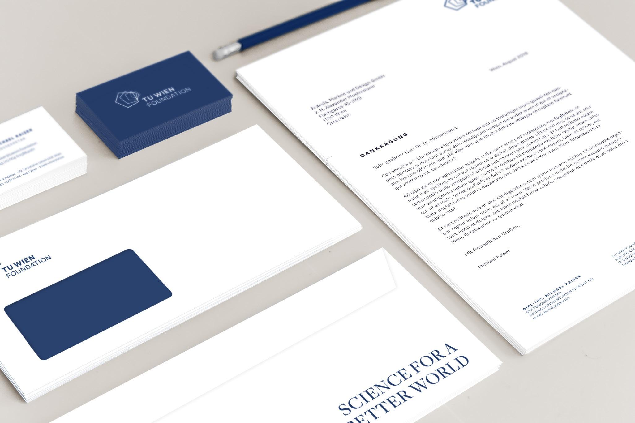 TUWienFoundation Brand Design Drucksorten