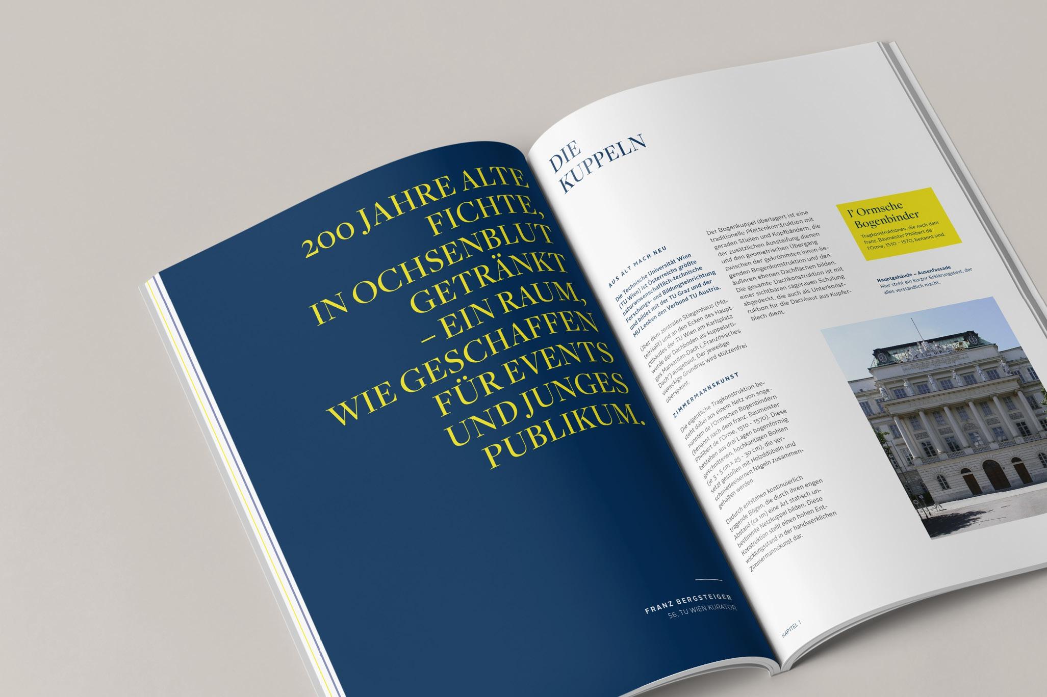 TUWienFoundation Brand Design Broschüre