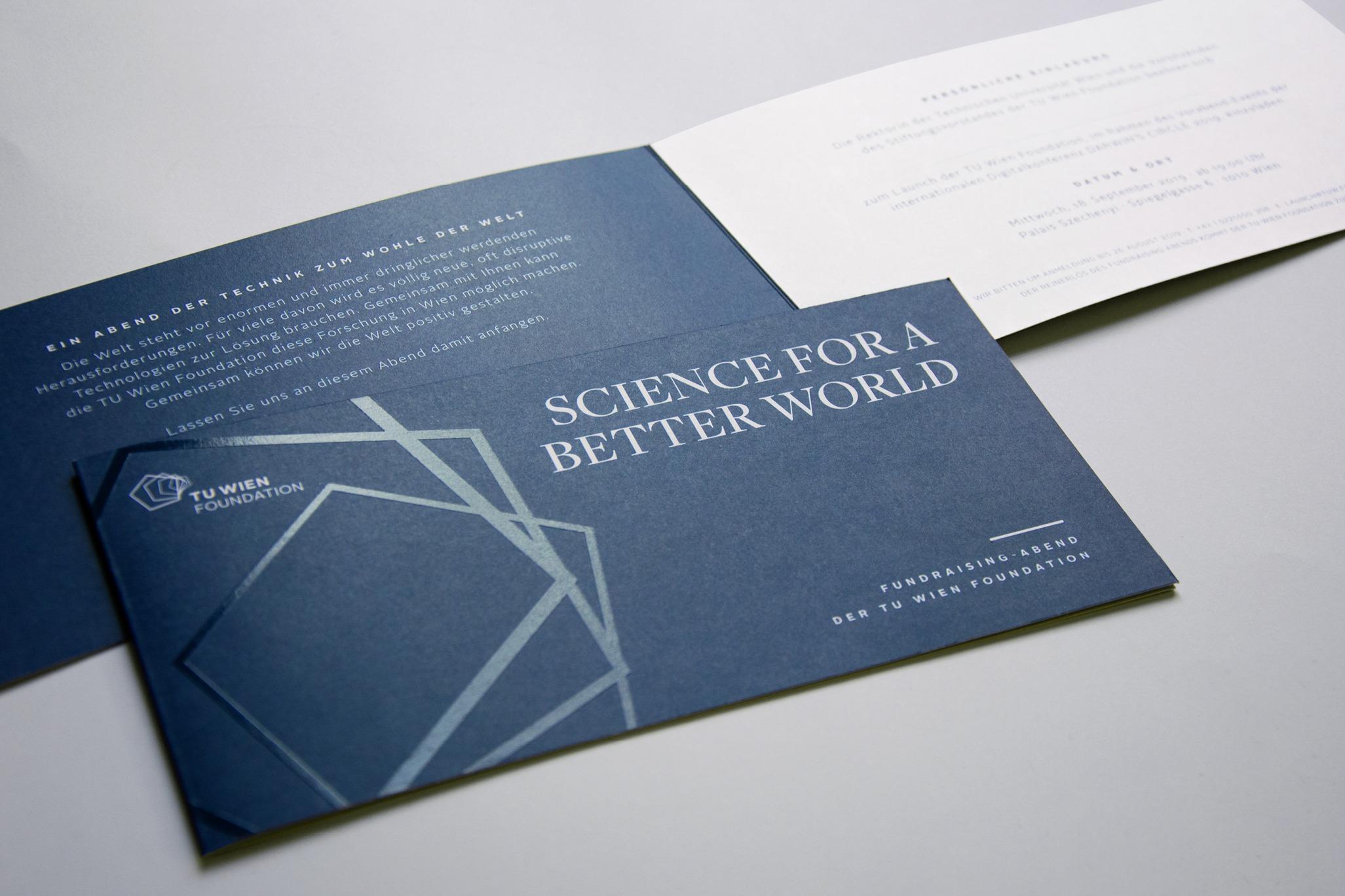 TU Wien Foundation Brand Design Einladung