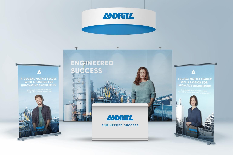 ANDRITZ Employer Branding Messeauftritt