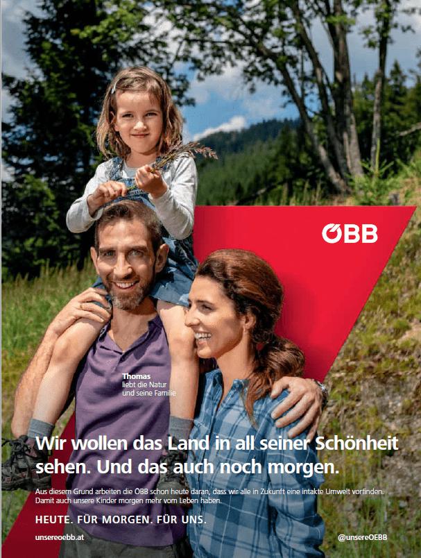 Marke OEBB Werbesujet