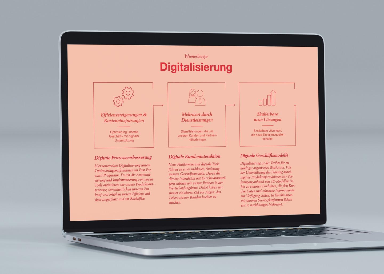 Wienerberger Online Geschäftsbericht Laptop